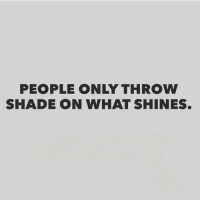 Memes, 🤖, and Throwing: PEOPLE ONLY THROW  SHADE ON WHAT SHINES.