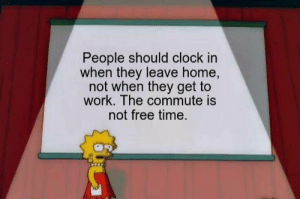 Clock, Tumblr, and Work: People should clock in  when they leave home,  not when they get to  work. The commute is  not free time. thecollege–dropout:  wait, y'all might be on to sum 🧐