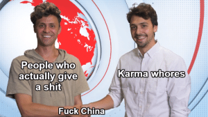 JJ McCullough memes are going fast! Invest while you still can!: People who  actually give  a shit  Karma whores  Fuck China JJ McCullough memes are going fast! Invest while you still can!