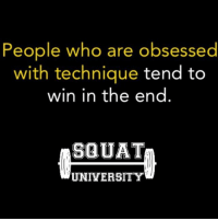 Don't just tell me you value technique... SHOW ME 👊🏻 ________________________________ Squat University is the ultimate guide to realizing the strength to which the body is capable of. The information within these pages are provided to empower you to become a master of your physical body. Through these teachings you will find what is required in order to rid yourself of pain, decrease risk for injury, and improve your strength and athletic performance. Squat SquatUniversity Powerlifting weightlifting crossfit training wod workout gym fit fitfam fitness fitspo oly olympicweightlifting hookgrip mobility USAW physicaltherapy lifting crossfitter quote instaquote motivation motivationalquotes: People who are obsessed  with technique tend to  win in the end  SQUAT  UNIVERSITY Don't just tell me you value technique... SHOW ME 👊🏻 ________________________________ Squat University is the ultimate guide to realizing the strength to which the body is capable of. The information within these pages are provided to empower you to become a master of your physical body. Through these teachings you will find what is required in order to rid yourself of pain, decrease risk for injury, and improve your strength and athletic performance. Squat SquatUniversity Powerlifting weightlifting crossfit training wod workout gym fit fitfam fitness fitspo oly olympicweightlifting hookgrip mobility USAW physicaltherapy lifting crossfitter quote instaquote motivation motivationalquotes