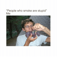 "Memes, Genius, and 🤖: ""People who smoke are stupid""  Me:  3 @unemployed_professors recommends 5-6 servings a day to achieve this level of genius 🤓💯"