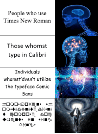Times New Roman, size 12 font only, please.: People who use  Times New Roman  Those whomst  type in Calibri  Individuals  whomst'dven't utilize  the typeface Comic  Sans  Om Times New Roman, size 12 font only, please.