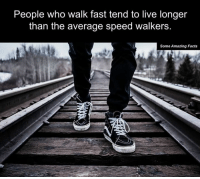Memes, 🤖, and Speed: People who walk fast tend to live longer  than the average speed walkers  Some Amazing Facts