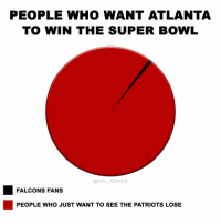 Part of me wants to see Goodell have to hand the trophy to Tom Brady though: PEOPLE WHO WANT ATLANTA  TO WIN THE SUPER BOWL  @NFL MEMES  FALCONS FANS  PEOPLE WHO JUST WANT TO SEE THE PATRIOTS LOSE Part of me wants to see Goodell have to hand the trophy to Tom Brady though