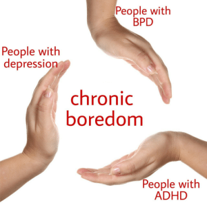 Adhd, Depression, and Bpd: People with  BPD  People with  depression  chronic  boredomm  People with  ADHD