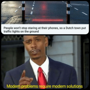Smokey heaven!: People won't stop staring at their phones, so a Dutch town put  traffic lights on the ground  Modern problems require modern solutions Smokey heaven!