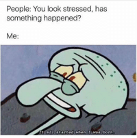 😂😂😂😂😂: People: You look stressed, has  something happened?  Me:  Tt all started when I was born. 😂😂😂😂😂