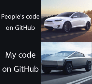 Code before and after you hit RUN.: People's code  on GitHub  My code  on GitHub Code before and after you hit RUN.