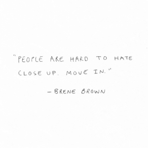 "Move, Hate, and Haro: ""PEOrLE AKE HARO TO HATE  CLOSE UP MovE IN.  BRENEROwN"