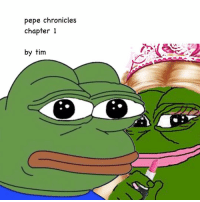 In Frogtopia, everything is determined by the color of a frog's skin. If you had light green skin, you would obtain money and everything you desired. If you had dark green skin you would be treated like feces. Pepe had dark green skin. He was abandoned by his family at the age of 3.14. His mother, Pepita, and his father, Pepe senior, could not take care of a child, they were just too poor. Their status did not allow them to find jobs or work. Pepe was alone and on the verge of death. Luckily, Pepe was found by a hermit, Pepo. Pepo had neon green skin, he was in the middle of the social hierarchy. Even though it was forbidden for different skin colored frogs to live together, Pepo took in Pepe. Pepe's childhood was rough. He was bullied in school for being dark skinned and having no parents. He became sad and depressed. He thought that he had no reason to live. He wanted to die. He believed that no one would care if he died. One day, when Pepe was at the ripe age of 14, he met Pelina. Pelina was a light skinned frog who came from a rich family that linked back to the first frog king, Pepopopo II. She was a goddess while Pepe was a disgusting piece of trash. Pelina was the first frog to be nice to Pepe. He fell in love with her. He stalked her everyday, he took her toenails in a jar and smelled them, and even crammed himself into the pipes of the toilet. He collected her poop. He smothered himself with it. He had found his reason to live. Pepe who was covered in Pelina's poop, was in his room licking himself. His adoptive father knocked on the door and told him that someone was there to see him. Then, Pepe heard a familiar voice. to be continued... - please comment what you think of it. next chapter will be soon! i hope pepechroniclesbytimlol: pepe chronicles  chapter 1  by tim In Frogtopia, everything is determined by the color of a frog's skin. If you had light green skin, you would obtain money and everything you desired. If you had dark green skin you would be tre