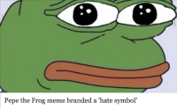 me irl: Pepe the Frog meme branded a hate symbol me irl