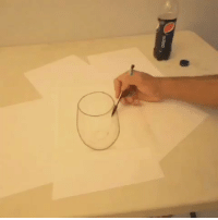 pepsi RT @Way_Things_Work: Pouring Pepsi onto a paper drawing.