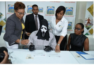 Jamaican Super Lotto winner taking NO CHANCES: per  90P  LOTTL  SOPO  LOTTO  LOTTO  LOTS  LOTTO  Sepe  pe  ITO  Spe Jamaican Super Lotto winner taking NO CHANCES