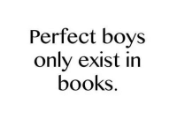 Books, Boys, and Perfect: Perfect boys  only exist in  books