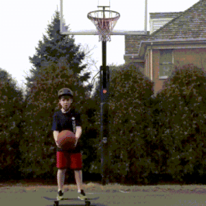 Kid, Ball, and Loop: Perfect loop of kid getting hit by a ball