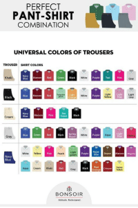 PERFECT PANT-SHIRT COMBINATION UNIVERSAL COLORS OF ...