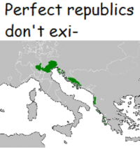 Shout out to Cold Canadian Memes for this very spicy meme idea: Perfect republics  don't exi- Shout out to Cold Canadian Memes for this very spicy meme idea