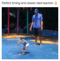 Dad, Love, and Memes: Perfect timing and classic dad reaction Much love to all the dads out there! You the real #chingon
