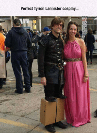 https://t.co/ouszEknxPo: Perfect Tyrion Lannister cosplay...  ENT  IN  L3  rt https://t.co/ouszEknxPo