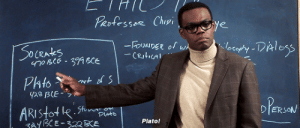 neddstark: The Good Place is gold and everyone should watch it.: Perfessor Chipi  es  D ERSON  Plato! neddstark: The Good Place is gold and everyone should watch it.