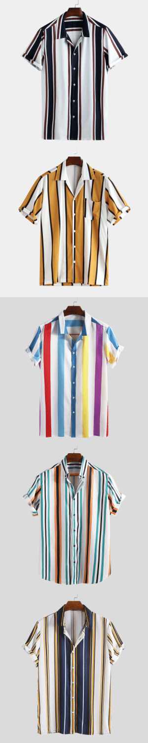 permanentfilemugglethings: Hit Color Striped Stand Collar Short Sleeve Henley Shirts Check out HERE 20% OFF Discount Code: August20 : permanentfilemugglethings: Hit Color Striped Stand Collar Short Sleeve Henley Shirts Check out HERE 20% OFF Discount Code: August20
