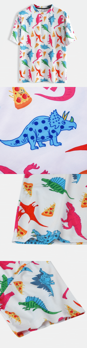 permanentfilemugglethings:  I like this idea: dinosaurs and pizza shirtCheck out HERE: permanentfilemugglethings:  I like this idea: dinosaurs and pizza shirtCheck out HERE