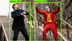 When you finally get object detection running: person: 89%  person: 82% When you finally get object detection running