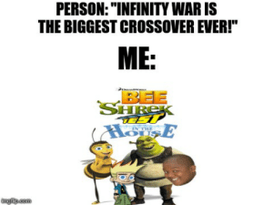 PERSONINFINITY WAR IS THE BIGGEST CROSSOVER EVER! ME BEE IN