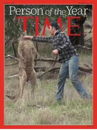Time, Kangaroo, and Person: Person of the Year  TIME <h2>Kangaroo of the Year</h2>