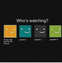 9gag, Friends, and Memes: Person who  pays for the  account  Who's watching?  parasite 2  parasite 3  parasite 1 Tag those parasites here! Follow @9gag 9gag Netflix tv friends