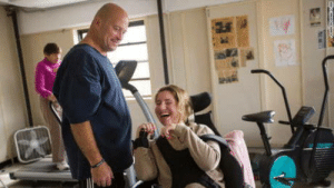 Gym, Warriors, and Personal: Personal trainer Ned Norton runs a gym for people with disabilities called Warriors on Wheels. Because most of his clients are on a fixed income he charges $1 a week for a membership and works a second job to make ends meet.