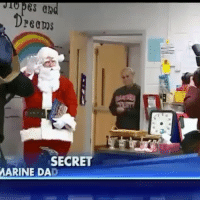 Memes, Elementary, and Marines: Pes ab  Dreams  SECRET  MARINE DAD When Jackson Rescott asked St. Nick for his Marine father for Christmas, the Virginia elementary schooler had no idea Santa was hiding a jaw-dropping surprise. Join & Tag friends 👊😎👍 @unclesamsmisguidedchildren UncleSamsMisguidedChildren