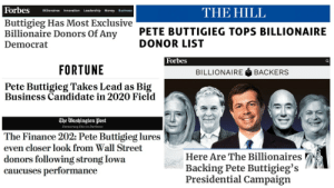 Pete Buttigieg represents everything that is wrong with politics in the United States. We aren't going to allow his billionaire donors to buy this election.: Pete Buttigieg represents everything that is wrong with politics in the United States. We aren't going to allow his billionaire donors to buy this election.