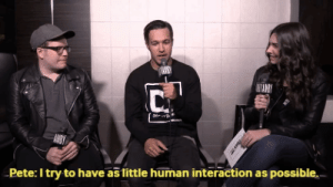 spiritual-revolt:  I relate to Pete on a spiritual level.Source: Pete: I try to have as tittle human interaction as possible. spiritual-revolt:  I relate to Pete on a spiritual level.Source