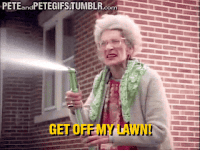 "Advice, Tumblr, and Blog: PETEandPETEGIFSTUMBLR.com  GET OFF MY LAWN <p><a href=""http://ragecomicsbase.com/post/158205365387/when-a-man-11-years-my-junior-gives-me"" class=""tumblr_blog"">rage-comics-base</a>:</p>  <blockquote><p>When a man 11 years my junior gives me condescending advice I didn't ask for</p></blockquote>"