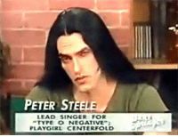 peter: PETER STEELE  LEAD SINGER FOR  TYPE O NEGATIVE  PLAYGIRL CENTER FOLD
