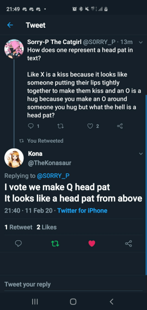 Petition to start referring to head pats by test as the letter Q: Petition to start referring to head pats by test as the letter Q