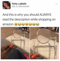 Amazon, Memes, and Petty: Petty LaBelle  @B is 4Bombshel  And this is why you should ALWAYS  read the description while shopping on  amazon { funnytumblr textposts funnytextpost tumblr funnytumblrpost tumblrfunny followme tumblrfunny textpost tumblrpost haha shoutout}