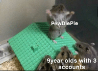 Memes, Http, and Controversial: PewDiePie  9year olds with 3  accounts Hey people who sort by controversial. This ones for you. via /r/memes http://bit.ly/2GwFT9C