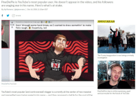 Future, Lmao, and Lol: PewDiePie is YouTube's most popular user. He doesn't appear in the video, and his followers  are waging war in his name. Here's what's at stake.  By Aja Romano | @ajaromano | Dec 14, 2018, 11:10am EST  f SHARE  MOST READ  1 day agc  2s.k Goin' through some hard times, so I wanted to draw somethin' to make  Felix laugh. 3 (hopefully, lol)  The Trump inauguration is now being criminally  investigated  M CONNA  SAY THE  WORD  PewDiePie/YouTube  PewDiePie's ties to white supremacy spell  serious trouble for the future of YouTube  YouTube's most popular (and controversial) vlogger is currently at the center of two massive