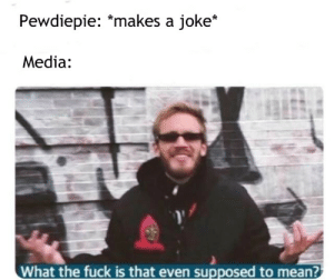 Vox wants to know your location: Pewdiepie: *makes a joke*  Media:  What the fuck is that even supposed to mean? Vox wants to know your location