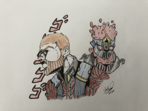 Pewds and his stand FistaFuel ( I also added the jacket you can turn inside out with the inverted pattern): Pewds and his stand FistaFuel ( I also added the jacket you can turn inside out with the inverted pattern)