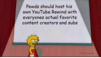 youtube.com, Content, and Gaming: Pewds should host his  own YouTube Rewind with  everyones actual favorite  content creators and subs  Chikn_Gaming