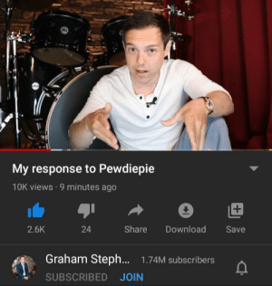 PEWDS! The guy from the millionaire video has a YouTube channel and is a huge fan!: PEWDS! The guy from the millionaire video has a YouTube channel and is a huge fan!