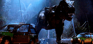 Fucking, Jurassic Park, and Jurassic World: pewpcorn: luke-skywalker: The T Rex first appearance in Jurassic Park.  This movie HOLDS THE FUCK UP. This shit looks better than either of the Jurassic World movies. Spielberg sold his soul to the devil to achieve this on the fucking 90s.