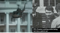 Throwback Thursday w- @zulufucxs On February 17, 1974, at 2 A.M. an Army PFC named Robert K. Preston lost his fucking mind and stole a U.S. Army Bell UH-1 helicopter from Fort Meade, Maryland and flew that motherfucker to damn Washington, D.C. YouHaveLostYourFuckingMindHardcharger OhHellFuckingNo OhIsThatRight WeJustWannaStealFuckingHelicopters GoodToFuckingGo Once he got to D.C. he yanked and banked his happy ass on over to 1600 Pennsylvania Avenue and hovered for six minutes over the White House. Let me say that shit one more time with some stank on it. HE HOVERED OVER THE FUCKING WHITE HOUSE FOR SIX MINUTES YouGotSomeFuckingBallsOnYouKid WhoTheFuckWereHisNCOsTho After he was done smokin' and fuckin' jokin' over the White House he descended on the south lawn, about 100 yards from the fucking West Wing DontMindMe LegHanginOutThePhantom No one could believe anyone would be that fucking stupid or crazy so there was no initial attempt from the Executive Protective Service to light his helicopter the fuck up so he took off and this time was chased by two Maryland State Police helicopters. Preston gorilla pimped one of the police helicopters out of the sky by maneuvering his helo like it was a fuckin' 87 Monte Carlo on fuckin 22s TwentyTwinTwinNiiigguuhhhh and then returned to the White House. This time, as he hovered above the south grounds, the Executive Protective Service lit his ass up with shottys and sub machine guns. DamnSon ThatYoAssBoi Preston caught a little bit of that work but it didn't really faze him and he finally landed the helo. When they took the young homie Preston into custody he said he was heated because they didn't let him continue training to fly helos so he had to show out. Pilots get mad pussy and Preston was trying to get on that level so he wanted to prove he had enough skill to earn his wings. OkIseeYouPreston GoodInitiativeBadJudgement He spent 1 year in prison, got fined $2400, received a general discharge and was awarded triple OG status for being the most belligerent fucking PFC in the history of the Army. OAF TBT ZeroFucks OAFNation: PFC Preston smiling while being  led into a patrol car Throwback Thursday w- @zulufucxs On February 17, 1974, at 2 A.M. an Army PFC named Robert K. Preston lost his fucking mind and stole a U.S. Army Bell UH-1 helicopter from Fort Meade, Maryland and flew that motherfucker to damn Washington, D.C. YouHaveLostYourFuckingMindHardcharger OhHellFuckingNo OhIsThatRight WeJustWannaStealFuckingHelicopters GoodToFuckingGo Once he got to D.C. he yanked and banked his happy ass on over to 1600 Pennsylvania Avenue and hovered for six minutes over the White House. Let me say that shit one more time with some stank on it. HE HOVERED OVER THE FUCKING WHITE HOUSE FOR SIX MINUTES YouGotSomeFuckingBallsOnYouKid WhoTheFuckWereHisNCOsTho After he was done smokin' and fuckin' jokin' over the White House he descended on the south lawn, about 100 yards from the fucking West Wing DontMindMe LegHanginOutThePhantom No one could believe anyone would be that fucking stupid or crazy so there was no initial attempt from the Executive Protective Service to light his helicopter the fuck up so he took off and this time was chased by two Maryland State Police helicopters. Preston gorilla pimped one of the police helicopters out of the sky by maneuvering his helo like it was a fuckin' 87 Monte Carlo on fuckin 22s TwentyTwinTwinNiiigguuhhhh and then returned to the White House. This time, as he hovered above the south grounds, the Executive Protective Service lit his ass up with shottys and sub machine guns. DamnSon ThatYoAssBoi Preston caught a little bit of that work but it didn't really faze him and he finally landed the helo. When they took the young homie Preston into custody he said he was heated because they didn't let him continue training to fly helos so he had to show out. Pilots get mad pussy and Preston was trying to get on that level so he wanted to prove he had enough skill to earn his wings. OkIseeYouPreston GoodInitiativeBadJudgement He spent 1 year in prison, got fined $2400, received a general discharge and was awarded triple OG status for being the most belligerent fucking PFC in the history of the Army. OAF TBT ZeroFucks OAFNation