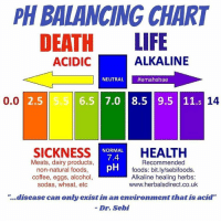 Ph Balancing Chart Life Alkaline Acidic Neutral Emahshae 65 70 85 95 115 14 00 25 55 Sickness Normal Health 74 Dairy Products Recommended