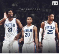 Sixers,  No, and  Processing: PHILA  THE PROCESS  PHILA  20  BR  PHILA  25 The Sixers take Markelle Fultz with the No. 1 pick!