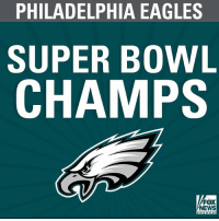 The @philadelphiaeagles defeat the New England @patriots to win the SuperBowl by a score of 41-33.: PHILADELPHIA EAGLES  SUPER BOWL  CHAMPS  FOX  NEWS The @philadelphiaeagles defeat the New England @patriots to win the SuperBowl by a score of 41-33.