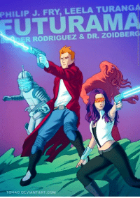 PHILIP J. FRY, LEELA TURANGA  DER RODRIGUEZ  & DR. zoIDBERG  TOHADHDEVIANTART.COM There is so much awesome in these I had to share.